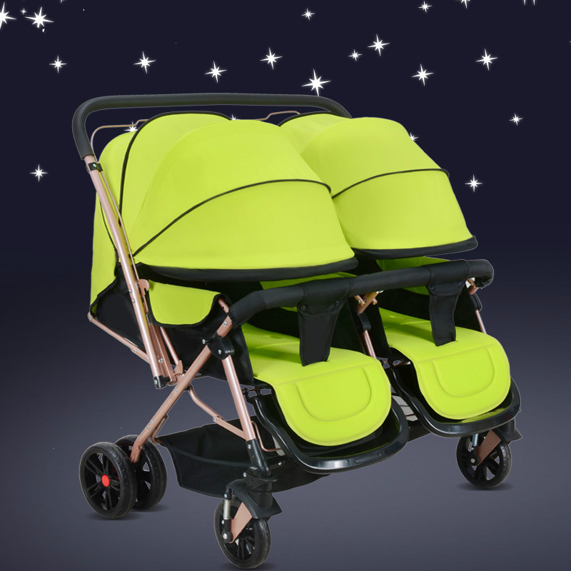 High quality twins baby stroller two-way shockproof newborn cart high landscape trolley prams folding mutiple baby carriages