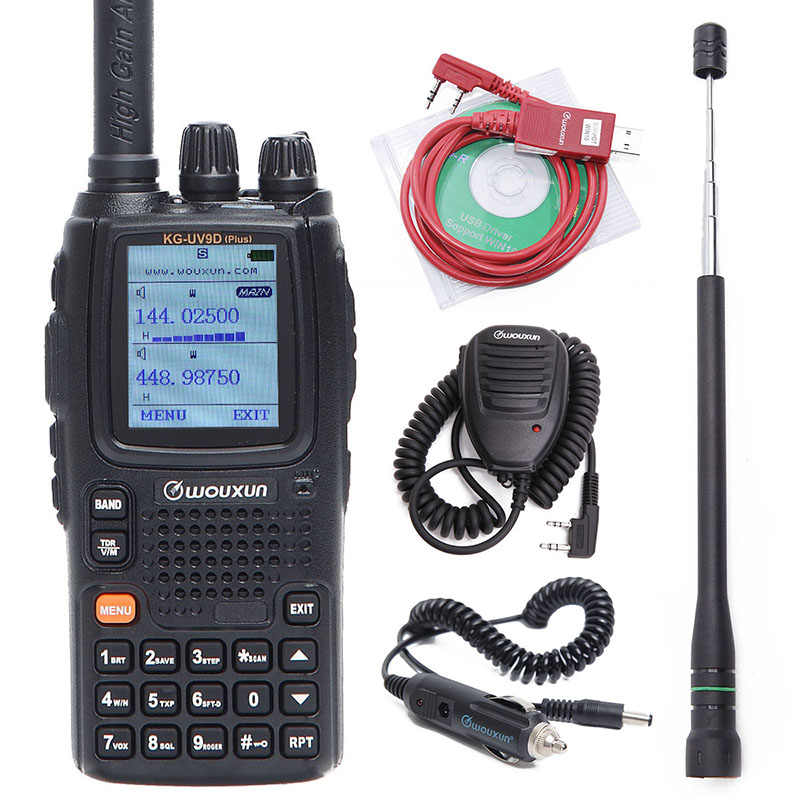 Wouxun KG-UV9D Plus multi-bande multi-fonctionnelle DTMF 7 bandes jambon Portable ensemble bidirectionnel Raido Air bande talkie-walkie Radio bidirectionnelle