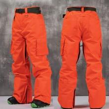 Doorek Brand Winter Women Men Snowboard Pants Outdoor Hiking Ski Pants Skiing Waterproof Breathable Ski Trousers 4 Colors
