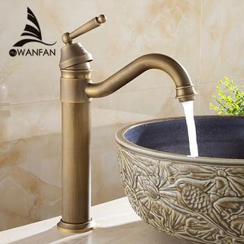 Basin Faucets Bath Antique Finish Brass Water Tap Bathroom Basin Sink Faucet Vanity Faucet Wash Basin Mixer Taps Crane 6633
