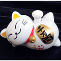 Car Style Solar Energy Lucky Cat Horizontal Type Swing Hand Mascot Toy Kawaii Cartoon Lazy Cat Cute Animal Doll Car Ornament