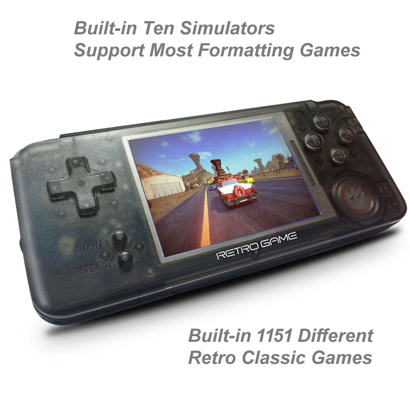 Retro Built-in 1151 Different Classic Games 3.0 IN Handheld Game Player Support For CP1/CP2/NEOGEO/GBA/GB/MD/FC Games игровая приставка playstation 4 хиты playstation в комплекте с тремя играми horizon zero dawn god of war 3 uncharted 4 и подпиской playstation plus 90д