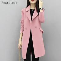 New 2017 Woman Wool Coat High Quality Winter Jacket Women Slim Woolen Long Cashmere Coats Casual Cardigan Jackets Elegant Blend
