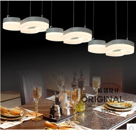 LED 21W-30W Acrylic Three Creative Study Of Individual Character Vogue Restaurant Dining Room Chandelier Line 110-240V  @-9 led 51w 60w acrylic contracted creative ring study bedroom restaurant dining room store lighting lamps and lanterns 220 240v 9