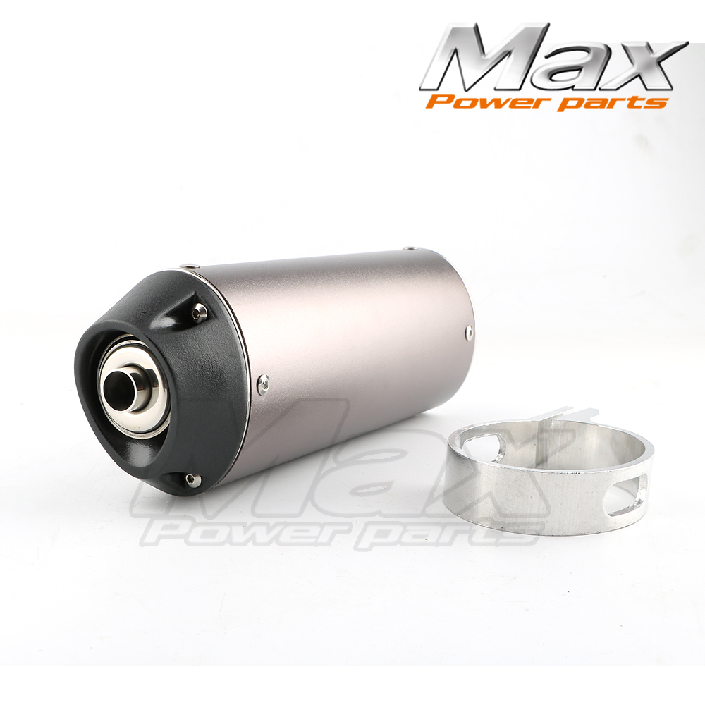 DHZ OUTLAW Pit Bike 38mm Exhaust Muffler with movable silencer Black dirt bike Chinese M ...