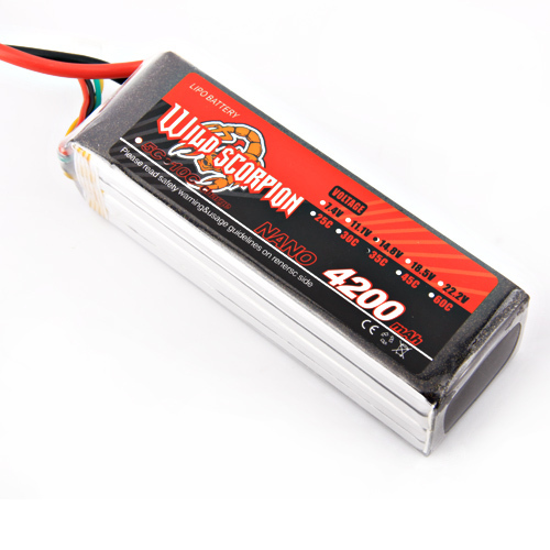 1pcs Wild Scorpion RC 14.8V 4200mAh 35C 4S Lipo Battery For RC Quadcopter Drone Helicopter Car Airplane wild scorpion rc 18 5v 5500mah 35c li polymer lipo battery helicopter free shipping