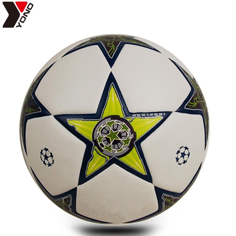YONOFootball Size 5 PU Wear Resisting Granules Soccer Professional Match Trainning Football Balls Futbol Voetbal Bola De Futebo