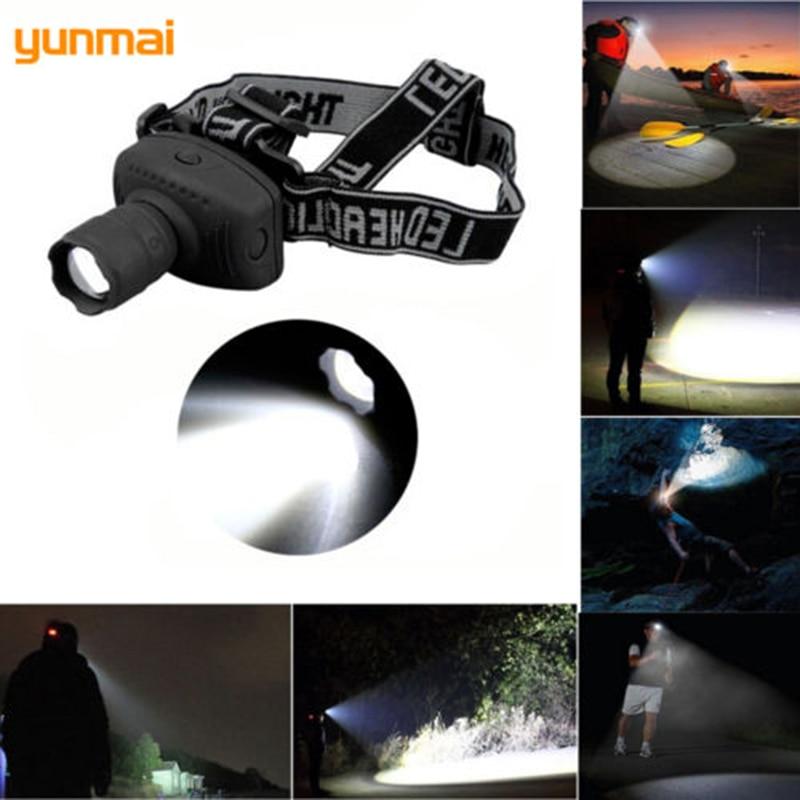Powerful 600Lm NEW Q5/XPE ZOOM LED Headlamp Waterproof Head Light Lamp Headlight Flashlight Torch AAA Battery Bike Riding Lamp