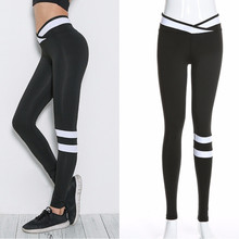 New high waist yoga pants Colorblock tight-fitting stretch trousers womens fitness leggings gym sports femme