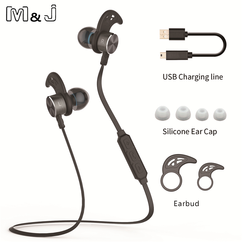 M & J New Magnet wireless Bluetooth pentru căști stereo Sport în - Audio și video portabile