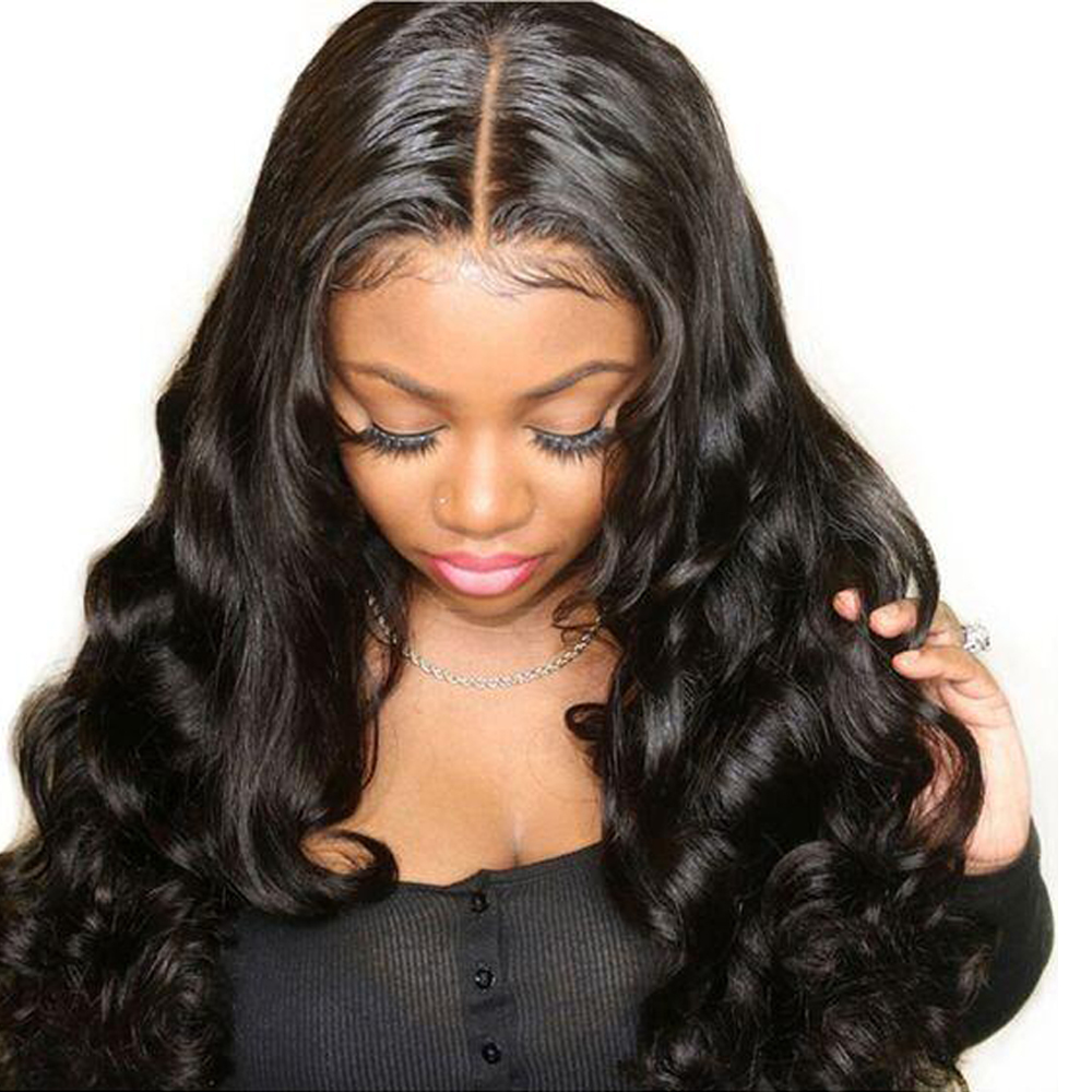 Sapphire Brazilian Body Wave 360 Lace Front Human Hair Wigs Bleached Knots 360 Lace Frontal Wig