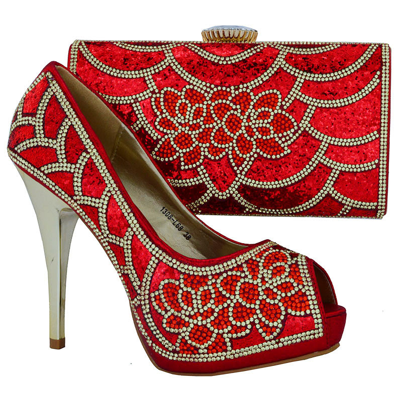 b0e44b962e6cd 1308 L68 African Women High Heel Shoes And Clutch Bags Fashion ...