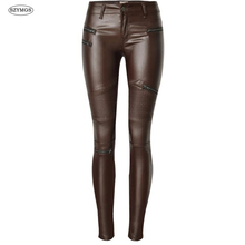 SZYMGS Fashion Elastic Pencil Pants skinny jeans woman Coated Cotton pantalones vaqueros mujer high waist jeans woman