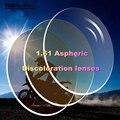 1.61 Asférico decoloración lente hombres mujeres Personalizable decoloración gafas de sol lente óptica gafas de lentes de prescripción