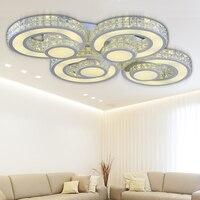 Потолочные светильники современный дом спальня LED Deckenleuchte kristall лампа гостиная кухня свет Flushmount светильники