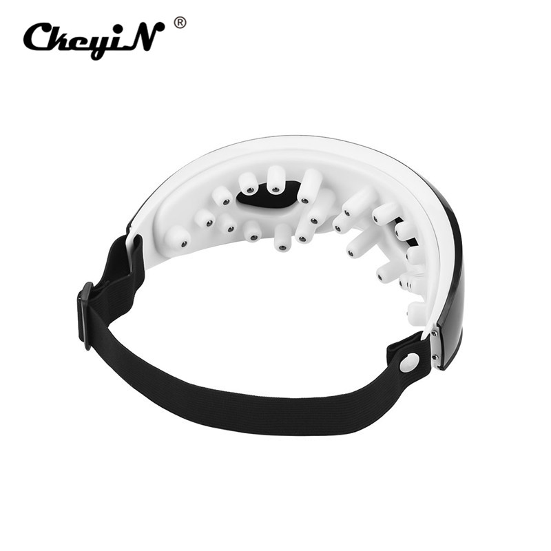 Wireless Rechargeable Eye Massager Magnets Acupoints Massage Vibrate Eye Care Fatigue Stress Relief Goggles Improve Eyesight S50