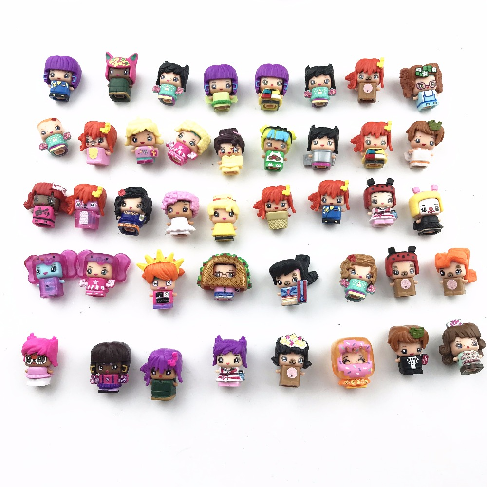 10Pcs/lot MMMQ's My Mini Mixie Q's Anime Dolls Mixieq's Assembling Girl Model Capsule Toys Action Figures Mixieqs Gift 48pcs lot action figures toy stikeez sucker kids silicon toys minifigures capsule children gift