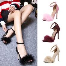 Women Sexy Sandals Pumps High Heels Women Shoes Summer Sandals Shoes Open Peep Toe Ankle Strap Ladies Party Shoes Wedding Pumps цена 2017