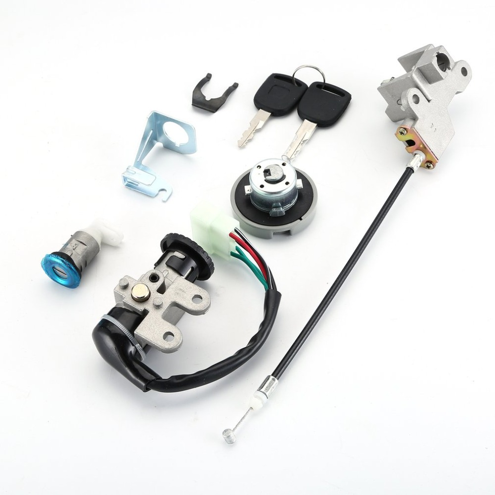 Stainless Steel Scooter Ignition Switch Key Set 49 50 Cc 3 Position Switch High Performance Durable In Use