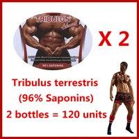 Tribulus Terrestris 96 Saponins 2 Bottles 120 Units Free Shipping