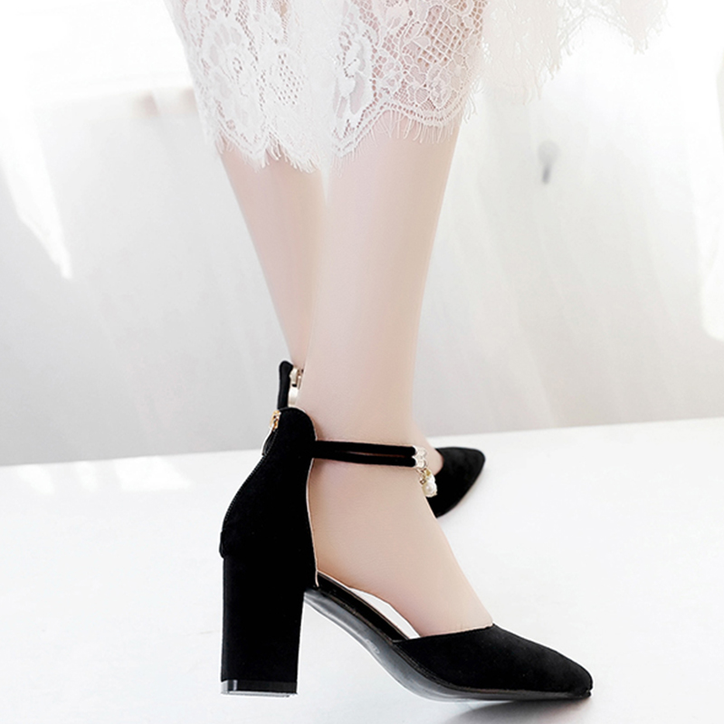 Zapatos Sandalias Bombas Moda black Para Gray Estrecha Tacones Sólido Damas Vestido Del Dbt732 Boda 2017 Verano Altos Barco Punta Mujeres 0xwI80Fqt