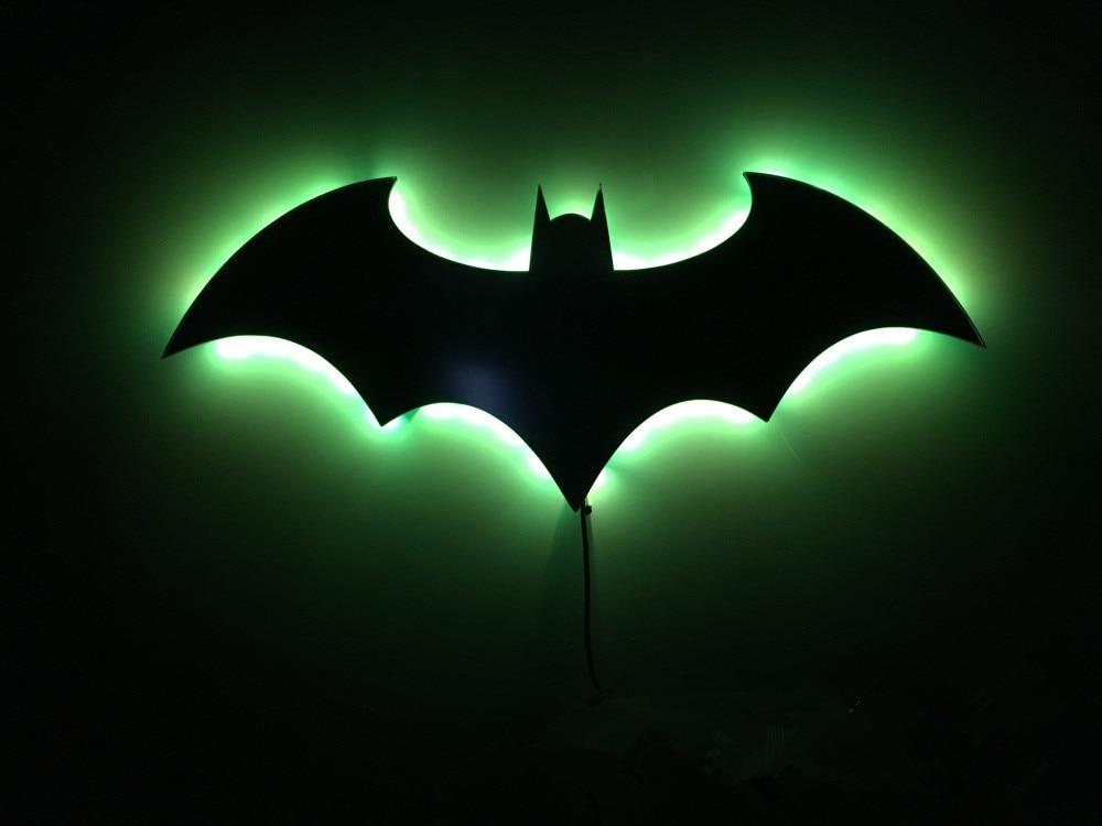 Luzes da Noite de parede batman símbolo criativo Fonte de Luz : Lâmpadas Led