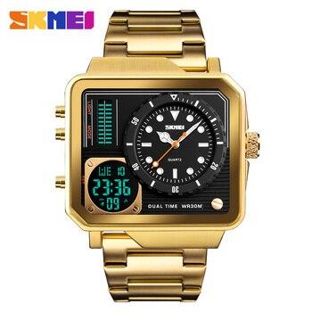 SKMEI แฟชั่นนาฬิกาผู้ชายนาฬิกาควอตซ์แบรนด์หรูกันน้ำสแตนเลสสตีลนาฬิกาข้อมือ elogio Masculino 1392