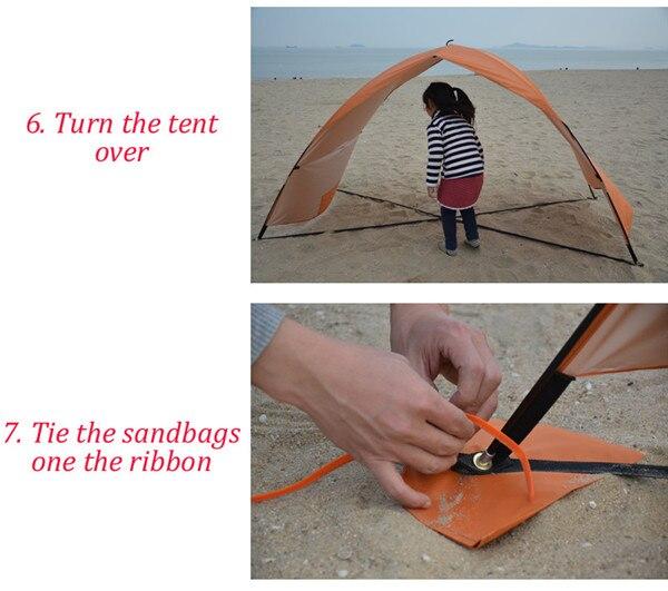 Sol abrigo tenda para praia verão ao