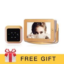 4.3Inch HD Touch Screen Video Recording Smart Door Peephole Camera Wireless PIR Motion Sensor Smart Video Door Peephole Camera
