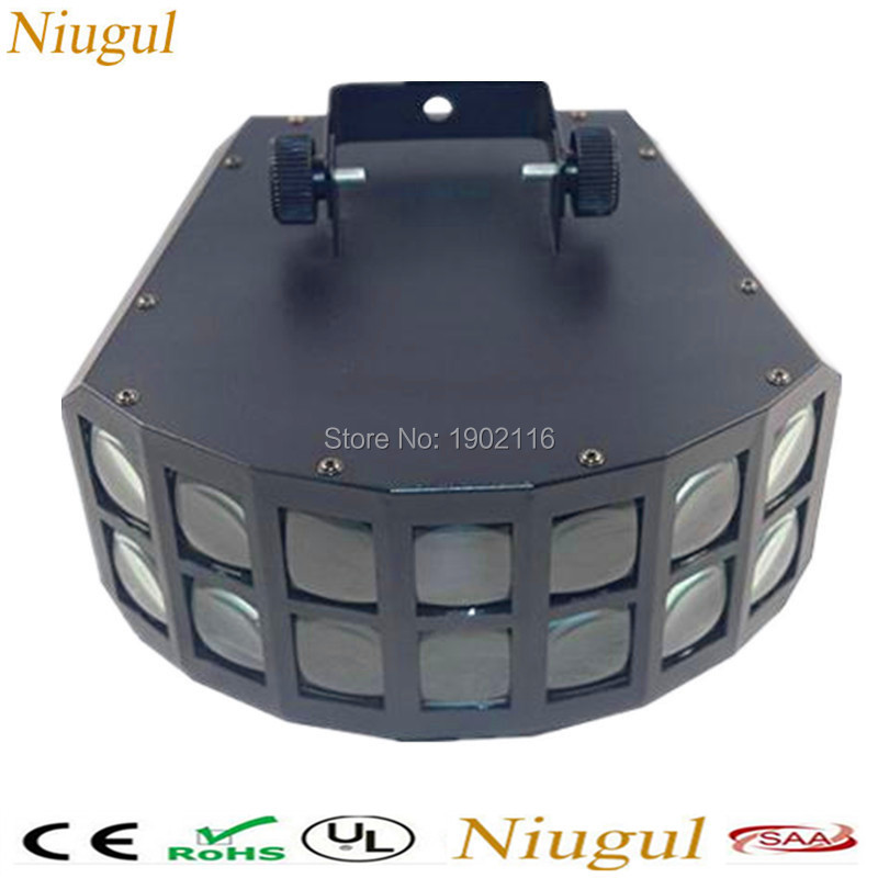 Niugul LED disco double butterfly light for DJ Club Party/led effect light/DMX512 led Stage Lamp/DJ Equipments /KTV disco lights 2pcs lot 10w spot moving head light dmx effect stage light disco dj lighting 10w led patterns light for ktv bar club design lamp
