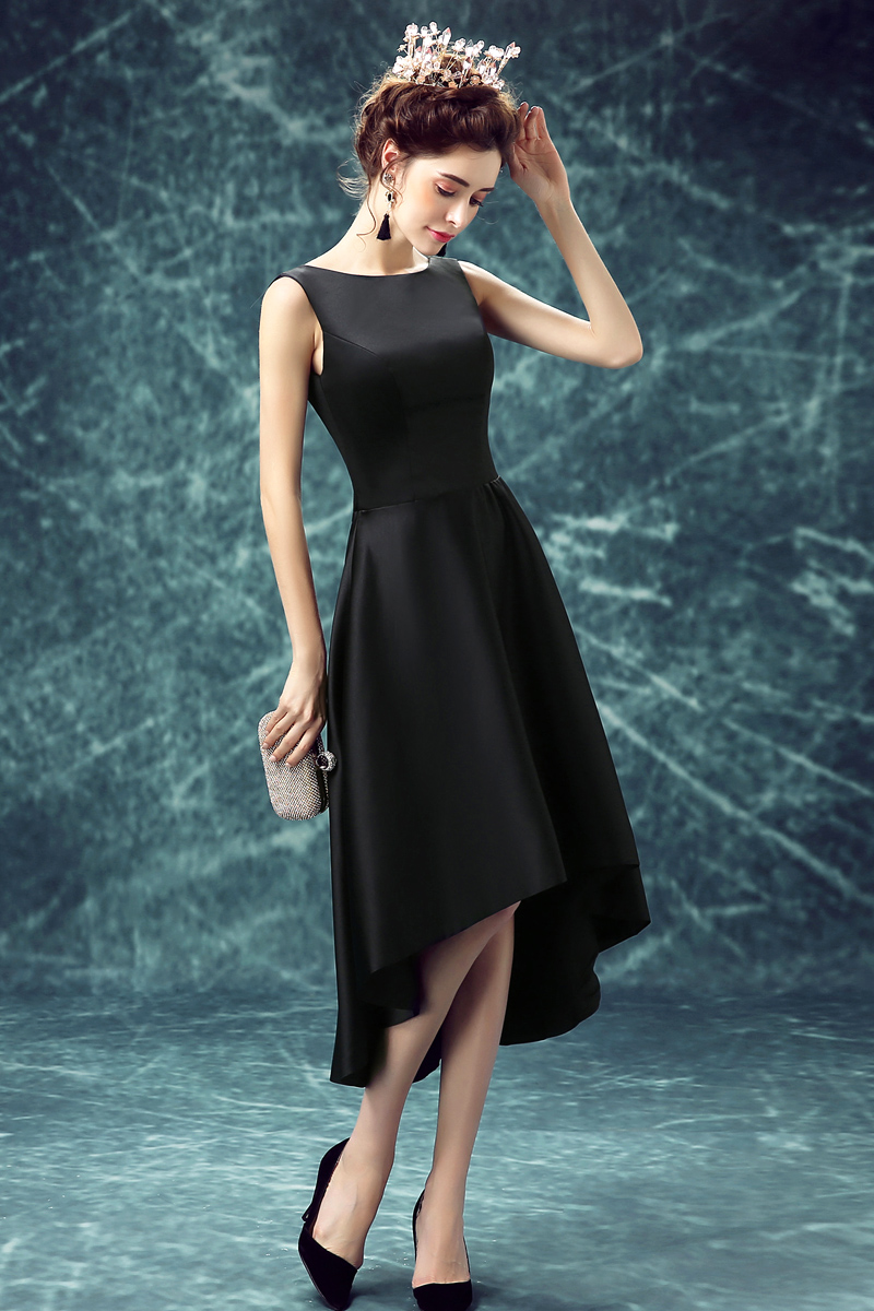 Free Shipping Short In Front Long Asymmetrical Prom Dress ...
