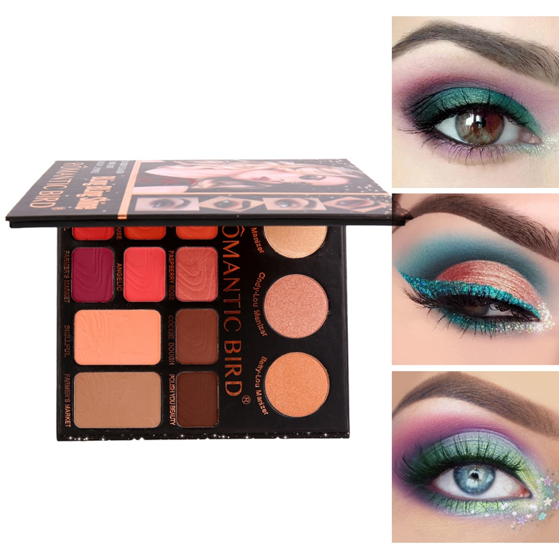 28 Colors Mashed Eyeshadow Palette Long Lasting Waterproof Smudge-Proof Matte Glitter Baked Strong Pigment Warm Color Eye Shadow
