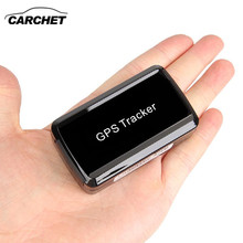CARCHET Mini GPS Tracker GSM GPRS Tracker Car Vehicle Tracking Locator Device Remote SMS Monitoring GPS Tracker