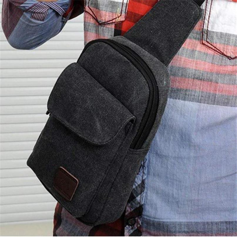 Multifunction Diagonal shoulder chest bag sports bag Men Outdoor Sport Leg Bag Canvas Waist Bag Money Belt Fanny Pack #2a (13)