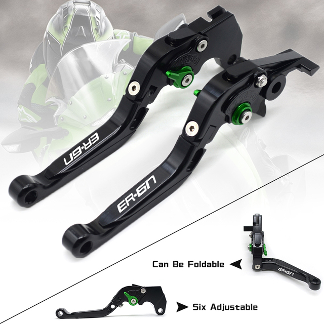 CNC Motorcycle Accessorie Adjustable Folding/Foldable Extendable Brake Clutch Levers For Kawasaki ninja 650r er6f er6n 2006 2008