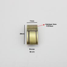 Torba skórzane akcesoria sprzętowe przycisk blokady blokada sprężynowa pakiet żeński mały zamek tanie tanio nolvo world Ze stopu cynku LOCK Other