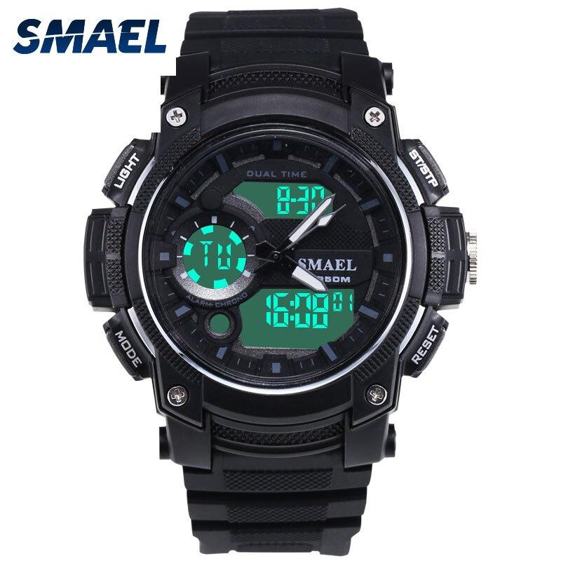 Digital Led Sports Watch Waterproof Watchband Swimming Diving Running Male Clock 1542