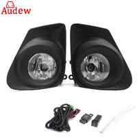 2Pcs H11 Car Front Bumper Fog Lights Lamp With H11Bulb Switch 2pcs Grille Cover Left Right