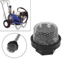 Профессиональный Впускной сетчатый фильтр Впускной шланг для безвоздушного распылителя металлический и пластиковый входной фильтр ситечко