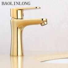 BAOLINLONG  Style Brass Deck Mount Basin Bathroom Faucet Vanity Vessel Sinks Mixer Tap