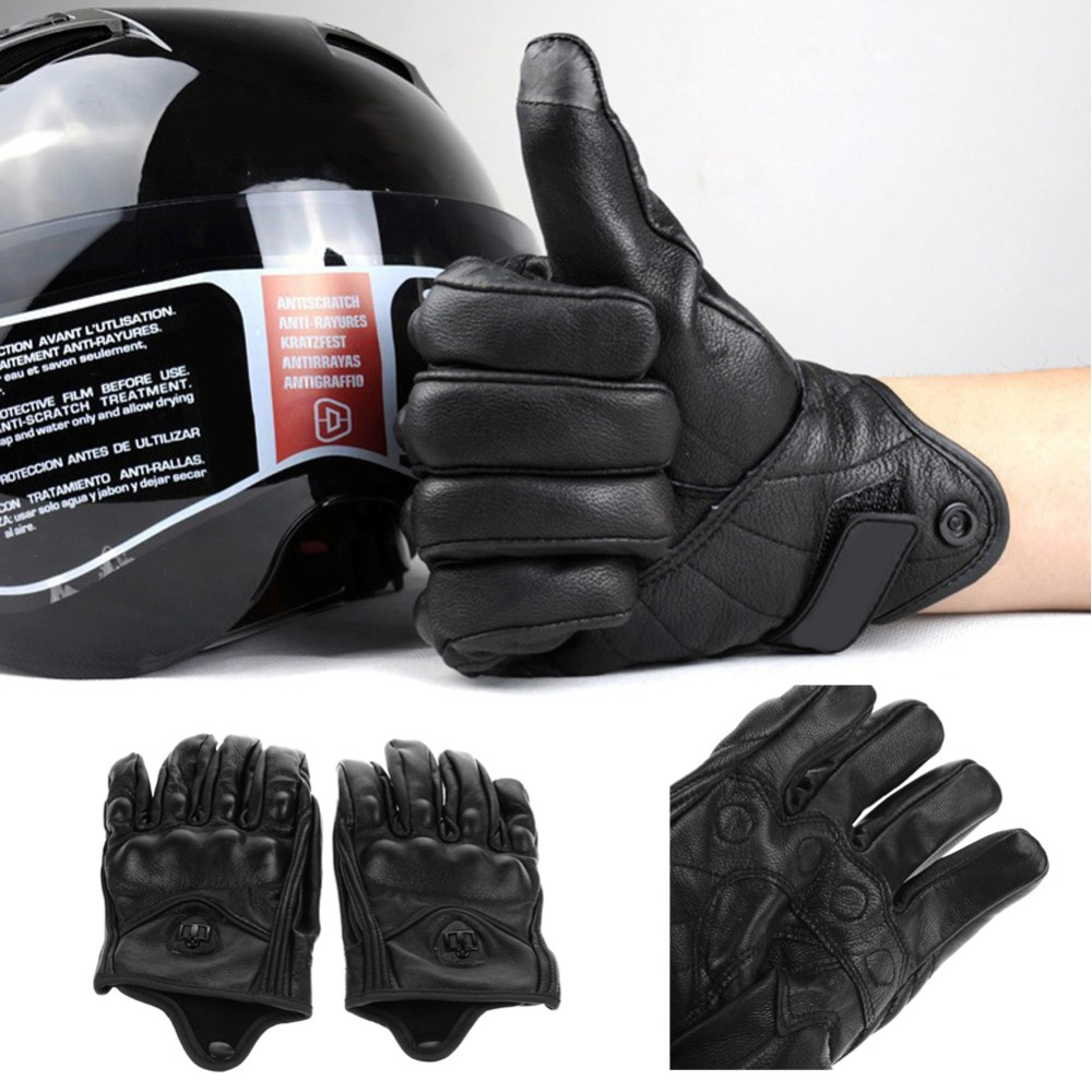 Motorcycle gloves with id pocket - Aliexpress Com Buy Men Motorcycle Gloves Leather Outdoor Sport Full Finger Motorcycle Riding Protective Armor Black Short Leather Warm Glove M L Xl From