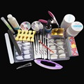 New Kit ! 12 Pure Color Nail Art UV Gel Solid Extension Manicure set + brush + base coat + top coat  manicure kit free shipping