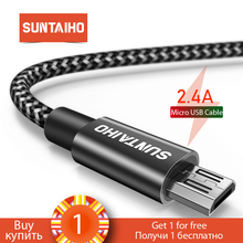 [Buy 1 Get 1] Suntaiho Fast Charge Micro USB Cable for Samsung s7 Nylon Micro US