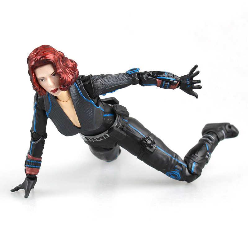 Super-heróis Os Vingadores Figura Black Widow Action Figure SHFiguarts Toy 15 centímetros