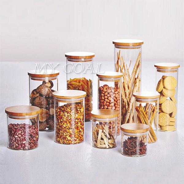 Kitchen Storage Bottles: Food Kitchen Bottle Storage Glass Jar Canister Container