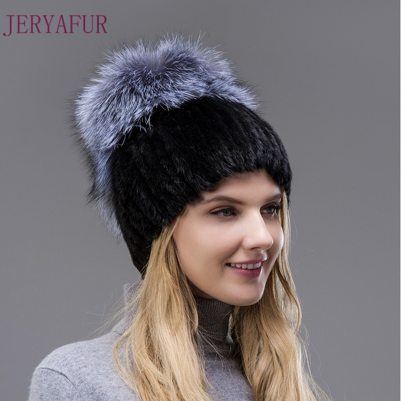 Hot Sale Style Real Mink Fur Hat Winter Warm Cap For Women Imported Mink Hats Hand-weaving With Fox Fur And Leather On The Top детские наклейки мозаика синтез чудесные наклейки посчитай и угадай