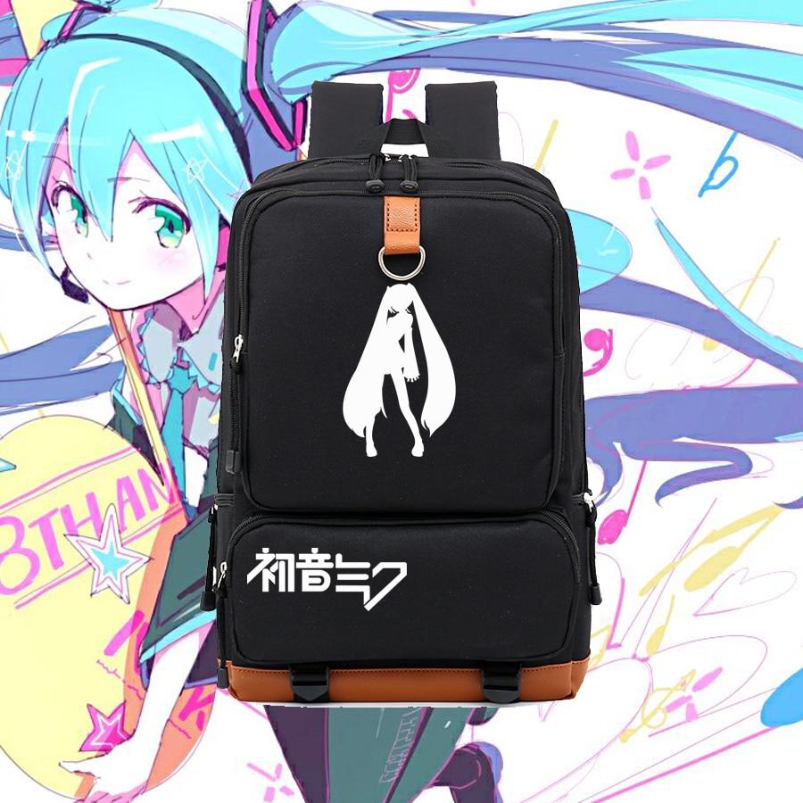 Lovely anime game concept Vocaloid Hatsune Miku printing big backpack school backpacks NB127 fashion high quality vocaloid hatsune miku canvas backpack anime women grils boys cosplay laptop school bag