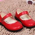 2016 Новый стиль девушки принцесса танца детская обувь весна осень мода удобные дышащие чистые цвета дети свободного покроя обувь