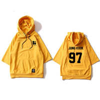 ALIPOP Kpop BTS Bangtan Boys WINGS Album Hoodie Loose Hoodies Clothes Pullover Printed Three Quarter Sleeves