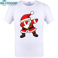 Funny Dabbing Santa Christmas Funny Design T Shirt Summer Short Sleeve Tops New Arrival Casual Cotton